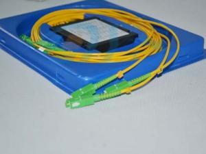 China 1 x 4 Singlemode Fiber Optics Splitter Couper wih SC APC Connector on sale