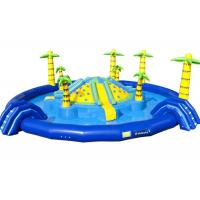 Jungle Floating Giant Inflatable Water Playground , Fun Water Park Inflatable Pool Slide