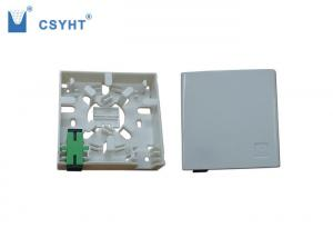 China 2 port wall socket plastic material for wall mounted in FTTH project on sale