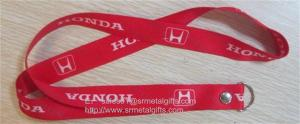China Full color print car brand logo promotional key lanyards with rivet, on sale
