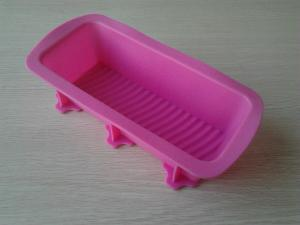 China Non Stick Silicone Baking Moulds With Rectangular Loaf And Cake Mould on sale