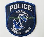 Different Shapes Iron on Embroidery Police Patches for clothing accessories