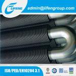 U type finned heating pipe