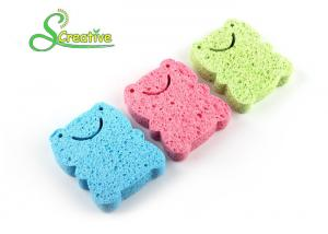 China Wood Pulp Cellulose Sponge For Face Cleansing , Cellulose Body Sponge Scourer on sale