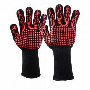 China 932F Extreme Heat Resistant BBQ Gloves BBQ Grill Glove For Cooking Baking supplier