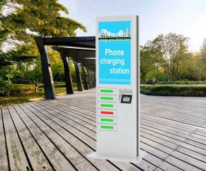 China Coin Operated Mobile Phone Charging Machines , Public Mobile Charging Stations on sale