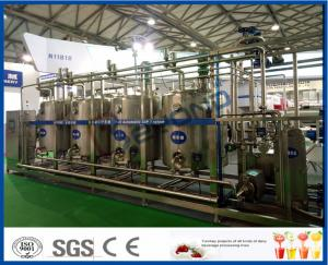 China Full Automatic Temperature Control PLC CIP Cleaning System With 4 Tanks Structure 3000L 5000L on sale