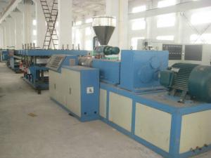 China SJSZ92 Laminating WPC Production Line , Double Screw Extruder Machine on sale