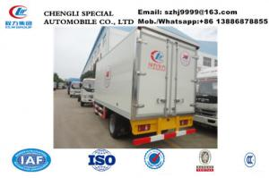 China cheapest price forland LHD 4ton chiller van truck for