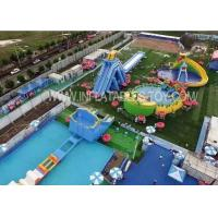 China Outdoor Amusement Inflatable Water Park With Giant Swimming Slide on sale