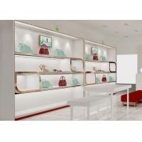 Beautiful Adjustable Wood Shelving / Shoe Wall Display For Lady Shoe Mall