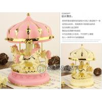 Romantic carousel music box / wind-up music box  luminous creative gift to girlfriend
