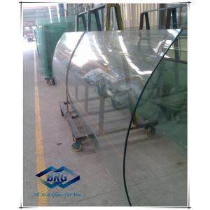 China 3-10mm bend/cruved tempered glass with special size China safety toughened glass on sale