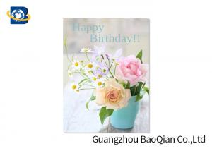 China Flower / Beauiful Girl Pattern Animation Business Cards Attracted Eyes Birthday Card on sale