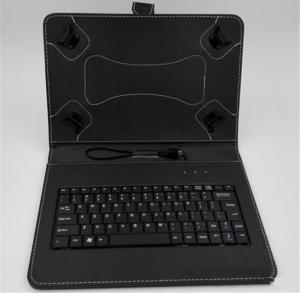 China Four Hook 7 Inch Tablet Case With Keyboard / Black Leather Surface Tablet Cover on sale