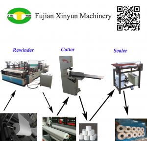 China Semi automatic small toilet paper making machine production line on sale