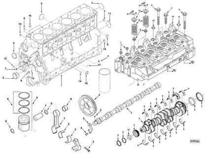 Dcec Cummins 6b6bt6bta6btaa Series Diesel Engine Spare Parts For