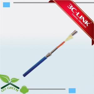 China Waterproof 4 Cores SM Armored Fiber Optic Cables Strong But Light on sale