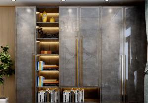 China Light Luxury Style Wooden Wardrobe Closet Marble grain Plate E1 Environmental Protection on sale