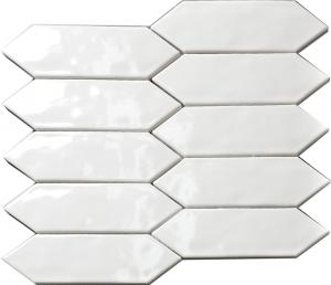 China Residential Wall Backsplash Ceramic Subway Tile White Bevel Size 75x150mm on sale