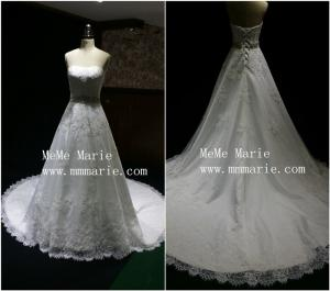 China Simple Sweetheart Strapless backless Wedding Dress Bridal Gown with lace-up BYB-14587 on sale