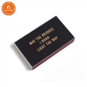 China Custom bulk box match printing from dongguan fuliter small boxes of matches on sale
