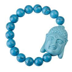 China Fashion shamballa buddha bracelets with Imitation Coral, blue Buddhist Bracelet on sale