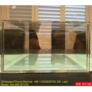 China Clear Acrylic Shoe Box Display And Storage Drawer Box With Silk Screen Logo supplier