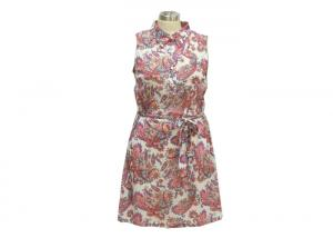 China Beachwear Type Women'S Casual Dresses Polo Collar Dress With Long Belt on sale