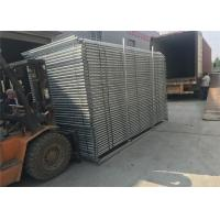 China Portable Construction Fencing Panels 6'x12'  Mesh 63mmx63mm diameter 2.9mm hot dipped galvanized 42 microns at all welds on sale