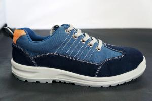 China Wear-resistant Steel Toe Women Canvas Safety Shoes Size 40 on sale