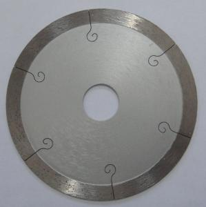 China 9 Inch Continuous Rim Saw Blade For Porcelain Tile , 350mm Diamond Cutting Blades on sale