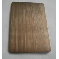 China Dark Brass Colored Ti-coating Hairline Decoration Stainless Steel Plates Anti-corrosive on sale