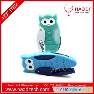 China Waiter's Owl Novelty Bottle Opener/Corkscrew Stainless Steel All-in-one Openers on sale