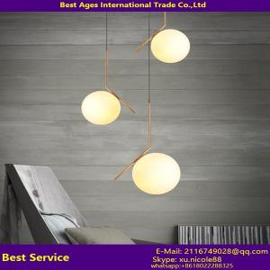 China Modern wrought iron glass ball home lighting/Iron pendant lamps/glass ceiling light on sale