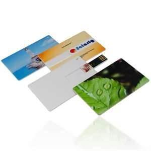 China Portable 64M ~ 32GB Credit Card USB Flash Drives logo pringting / credit card usb memory stick on sale