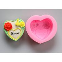 China Oven Safe Personalized Silicone Soap Molds , Heart Shaped Silicone Moulds on sale