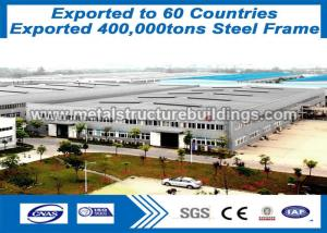 China Corrugated Steel Sheet Prefabricated Steel Structures Large Span Steel Building SGS Certified on sale