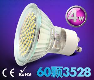 China 4W Ceramic indoor lighting bulb down lamp led spot light GU10 220V E27 60pcs SMD3528 on sale