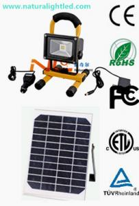 China Portable rechargeable solar flood lights led on sale