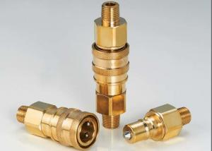 China Thread Brass Hydraulic Quick Connect Couplings , Male Hydraulic Coupler ISO7241-B on sale