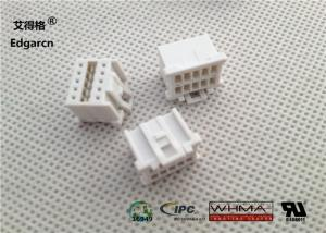China 22awg - 28awg Molex 10 Pin Connector , White Receptacle Housing Connector on sale