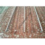 V Type Reinforced Rib Lath Mesh , 610mm Width 0.3mm Thickness Galvanized Metal Lath