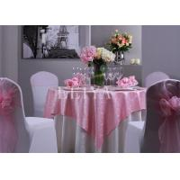 Wedding Party Beautiful Jacquard Hotel Table Cloth With Customized Size and Color