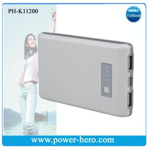 China Power Bank / Dual USB Portable Power / Battery pack、Rechargeable battery pack、Power backup/11200MAH on sale