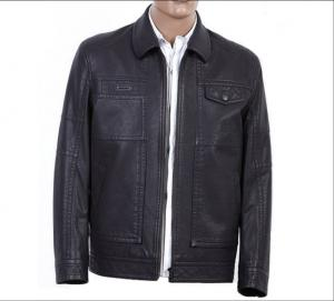 China women blue leather jackets on sale