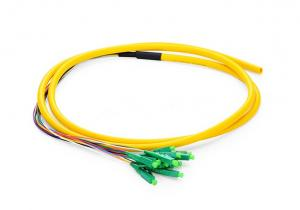 China LC APC Patch Cord 12 Fibers Pigtail Simplex For Optical Fiber Test Equipment on sale