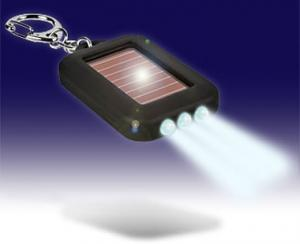 China Argent super bright  0.3W solar powered flashlight supplier