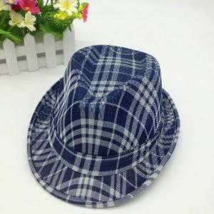 China Straw Fedora Short Broad Brimmed Hat Poly String Sweatband / Leather Belt Available on sale