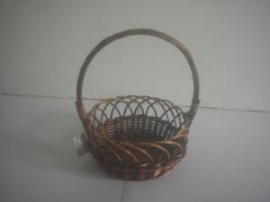 China outdoor willow basket with handles on sale